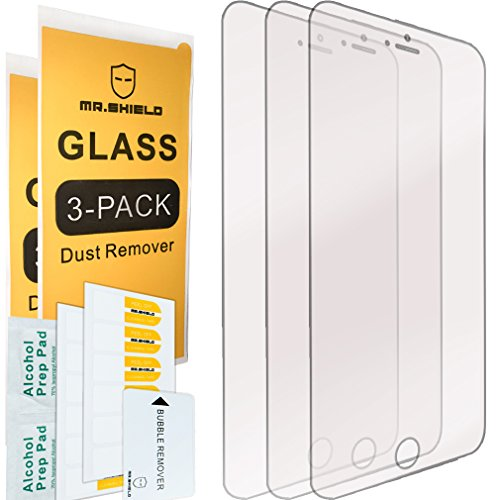 [3-PACK]-Mr Shield For iPhone 6 / iPhone 6S [Tempered Glass] Screen Protector with Lifetime Replacement Warranty (Mobile Guard)