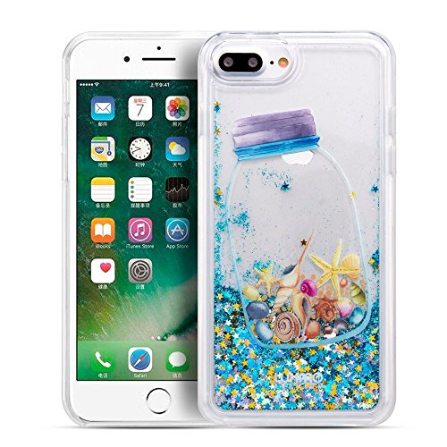 Seashells Cascading Liquid Glitter Waterfall Case for iPhone 8 Plus & iPhone 7 Plus