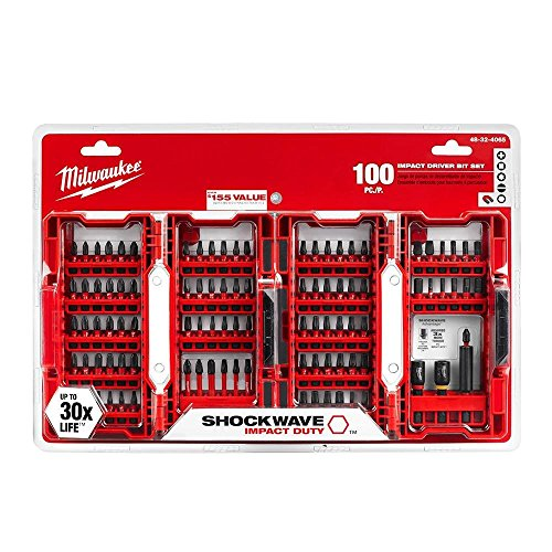 (Milwaukee 48-32-4065 Shockwave Impact Duty Driver Bit Set (100-Piece))