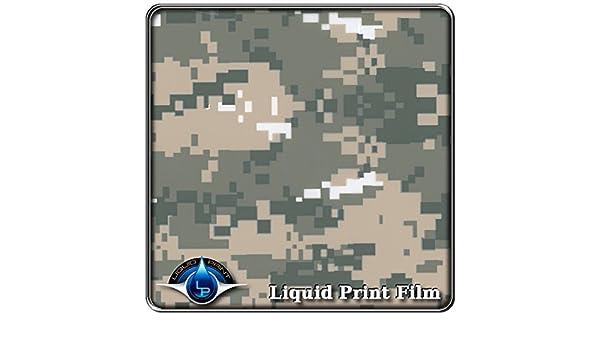 Green//Tan//Gray Digital Camo MC-841 Hydrographic Film Water Transfer Printing Film Hydro Dipping