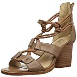 The Fix Women's Jackson Rope-Tie Block Heel Dress Sandal, Havana Tan, 8 B US