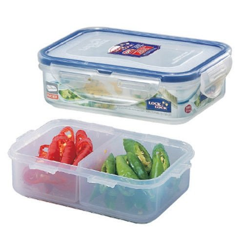 Lock & Lock, No BPA, Water Tight, Food Container, with 2 Removable Dividers, 1.5-cup, 12-oz, HPL810C (Lock And Lock Microwave compare prices)