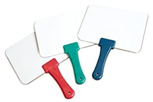 Classroom Set of 12 Answer Whiteboards w/mini-erasers (Color: White)