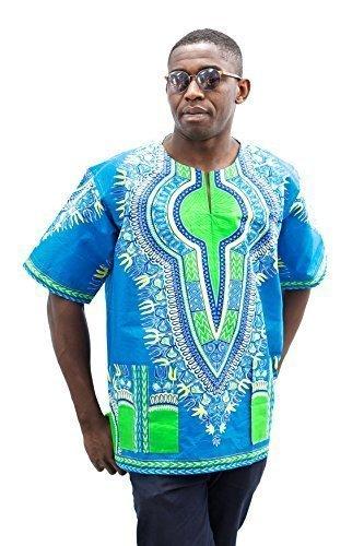 Africain Traditionnel les T Hommes Pan occasions toutes Impression Caftan pour Femmes Robes t Vtement pour Meilleur Green Kente shirt Dash et africaine Dashiki EHEnCzqw