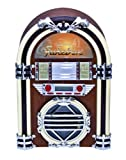 Grace Digital GDI-JBP100 Victoria Tabletop Jukebox with CD Player, AM/FM Radio, SD/USB Player and Adjustable Light Show