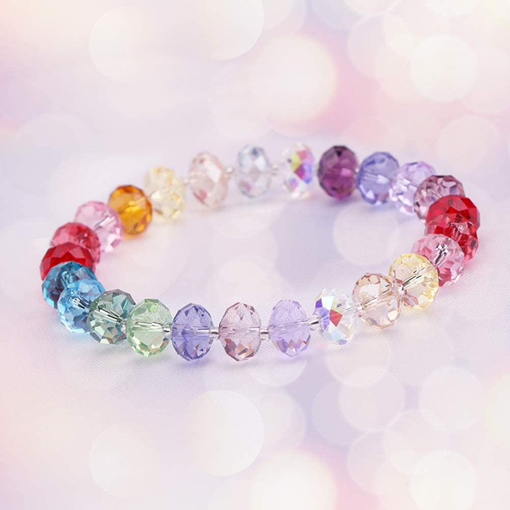 Bingcute 8mm Wholesale Briolette Crystal Glass beads for jewelry making Faceted #5040 Briollete Rondelle Shape Assorted Colors With Container Box 300PCS