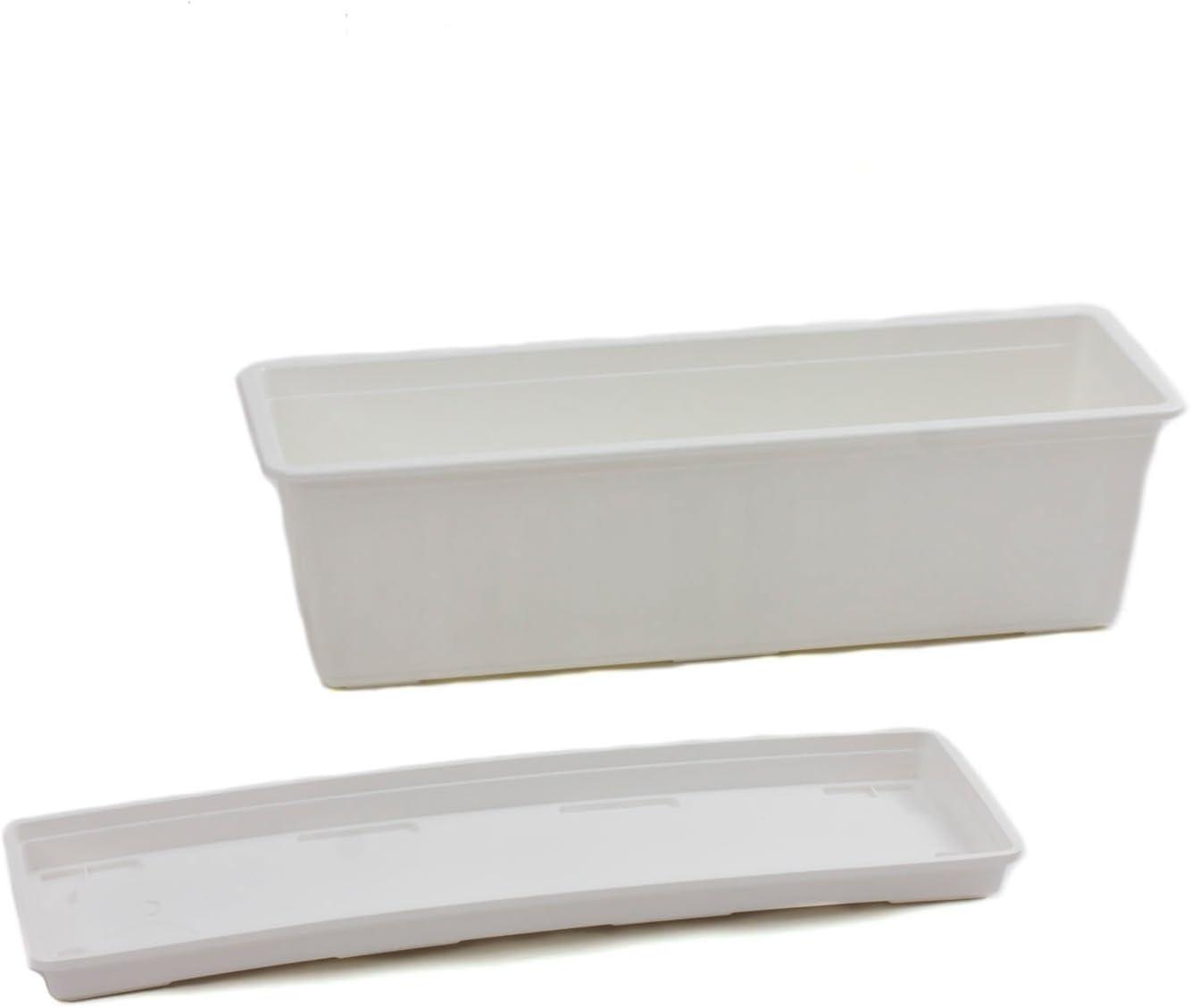 bianco colore Kit Fioriera rettangolare AGRO 60cm