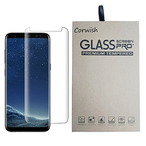Galaxy S8 Tempered Glass Screen Protector , 3D Curved Edge To Edge Case Friendly Full Coverage HD Clear Anti Scratch Protective Cover Film for Samsung S 8 Smart Phone ( for S8, not for S8+ ) (Clear-C)