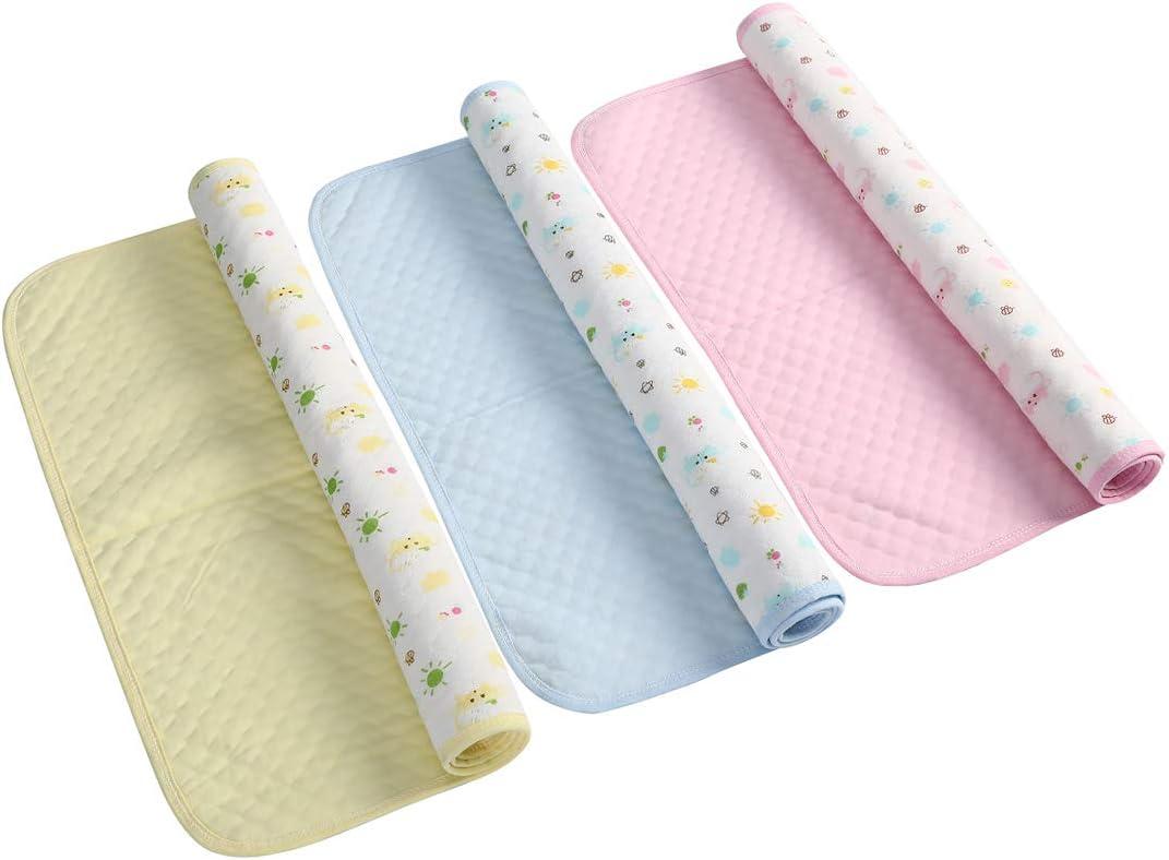 3 piezas de alfombrilla de cambio impermeable para beb/és almohadillas para cambiar pa/ñales lavables para ni/ños 35 * 45 cm s/ábana para pa/ñales port/átil S