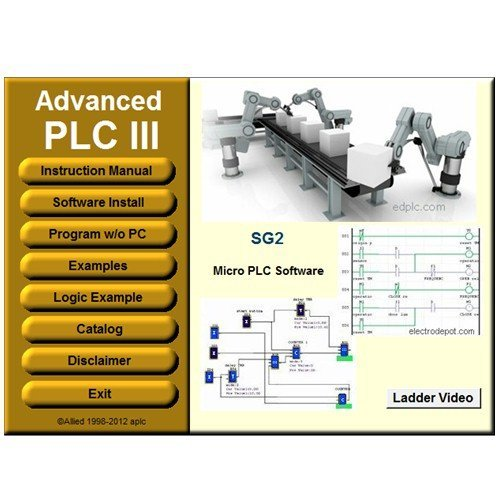 PLC III Virtual PLC Programming and Simulator Software Ladder and Logic Function Easy Automation by Electrodepot