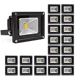 20 X 10W Projecteur LED blanc chaud P...