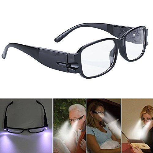NPLE--Rimmed Reading Eye Glasses Eyeglasses Bedroom Spectacal With LED Light Portable! - Eyeglasses Salt Frames