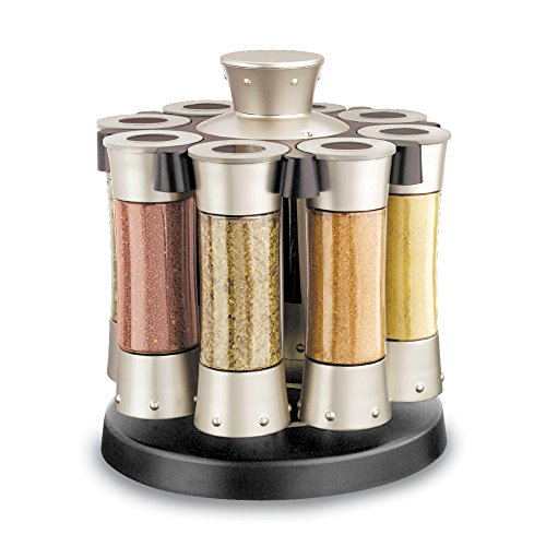 KitchenArt 80070 Elite Auto-Measure Spice Professional, Satin (Carousel Spice Kitchenart)