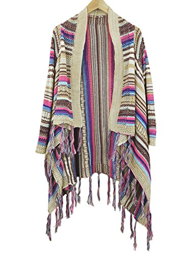 ACHICGIRL - Cárdigan - relaxed - para mujer Multicolored
