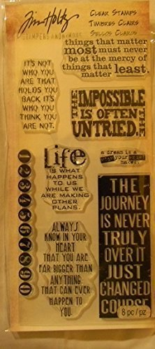 Stampers Anonymous Tim Holtz Cling Rubber Stamp Set, Phrases 2 HC006 -