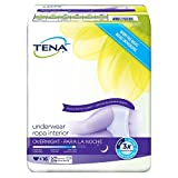 Tena Incontinence Underwear For Women, For Overnight, Medium, 16 Count (Pack of 4)