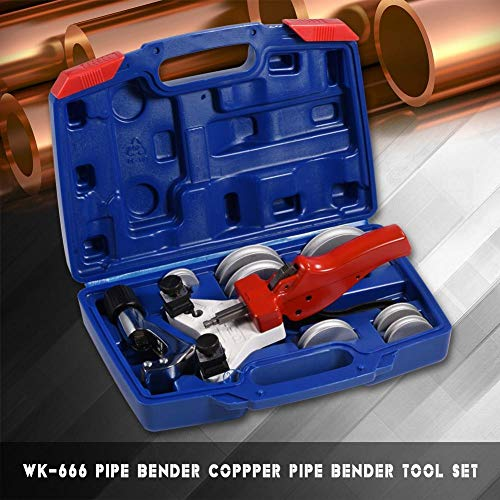 Pipe Bender Set, Durable Copper Pipe Tubing Bender Manual Tube Bending Tool Kit, Works Well On 5mm - 12mm Copper Tubes