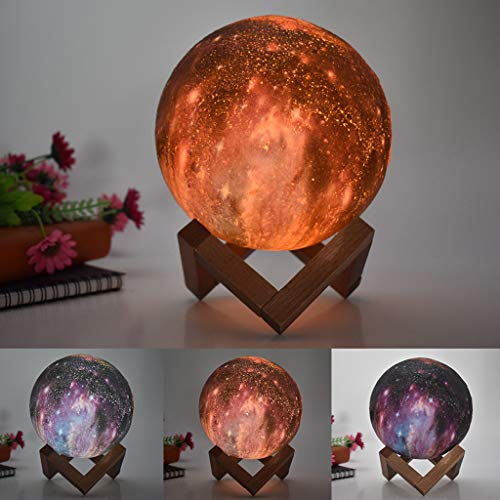 Longay 3D USB Hand Shot Lights Moon Night Light Moonlight Table Desk Moon Lamp Gift ()