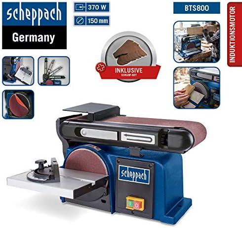 Ersatzschleifpapier // -b/änder 12-teilig Bandschleifer Inkl 150 mm Schleifteller 370 Watt 100 mm Schleifband Tellerschleifer SCHEPPACH SET BTS 800