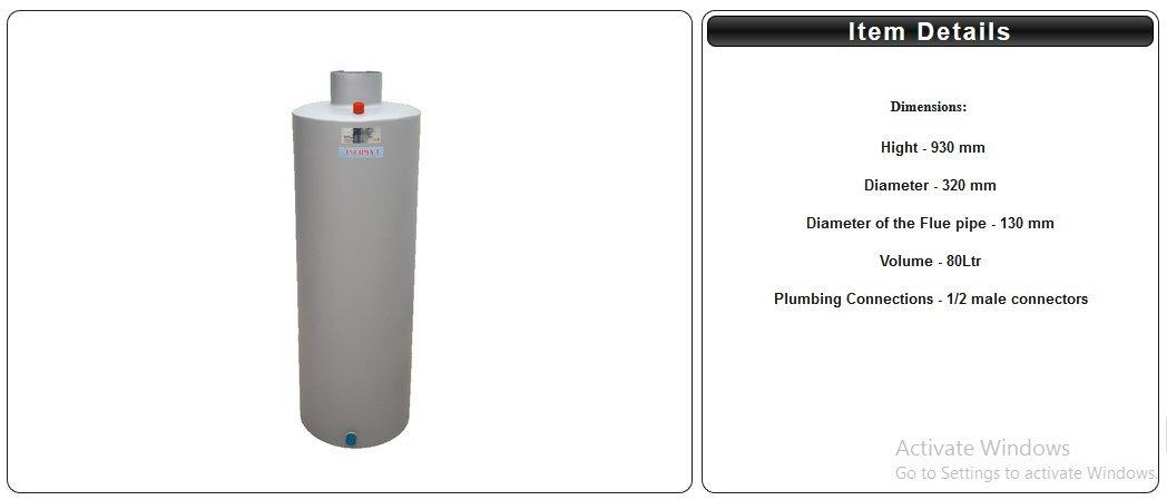 Calentador de agua caldera calentador de agua para estufa de leña chimenea calentador de agua 80 l: Amazon.es: Bricolaje y herramientas