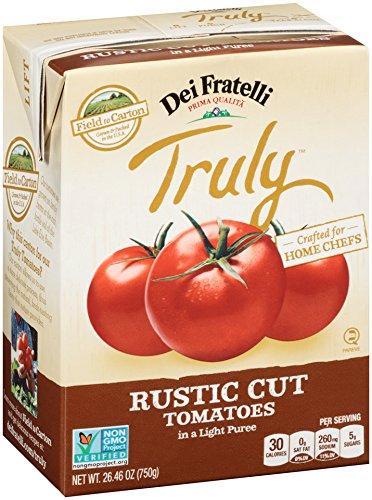 Dei Fratelli - Truly Rustic Cut Tomatoes - 26.46oz Carton - 12 pack (Soup Rustic Tomato)