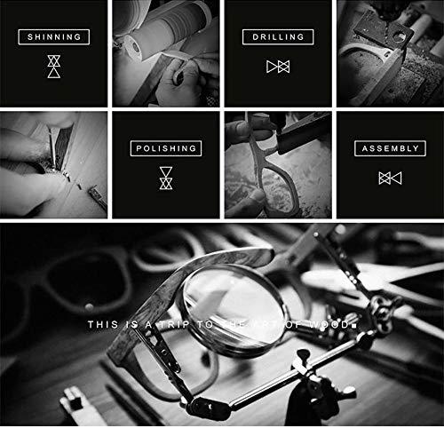 Femme AZB Bambou Noir Lunettes en de et Voyageurs Vintage Bambou Les en Soleil de Polarisées Homme Flottants Parfait pour Bois Boîte Soleil en pour Lunettes avec zzrwxqnU