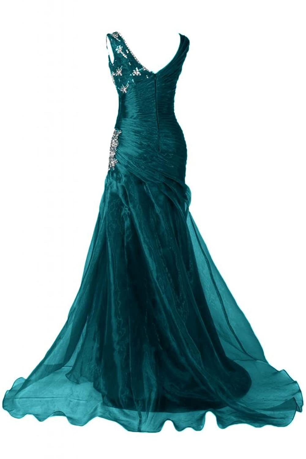 Sunvary Charming V-neck Prom Dresses Organza Evening Party Gowns Maxi Pageant Dress