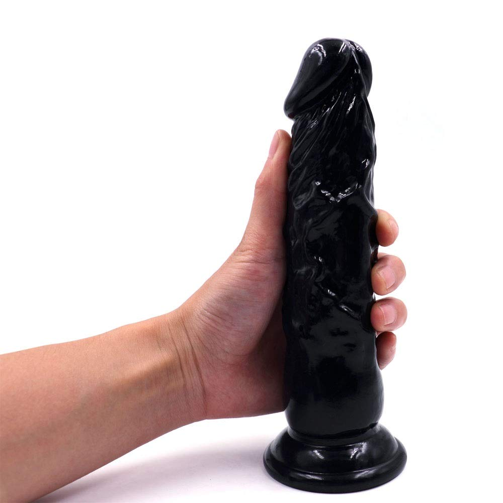 Beginners 7.87 inch Lifelike Silicone Dî'ldɔ Body Relax Waterproof Massage Hand-Free for Women Birthday Present- Black Story PNMGJ