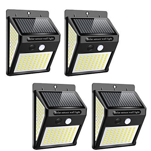 Buitenverlichting op Zonne-energie, 144 LED Beveiligingslichten op Zonne-Energie Met Bewegingssensor 300…