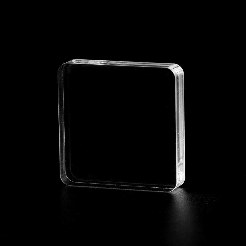 Ycncixwd DIY Transparenter Siegelstempel Block Acryl Griff Bl/öcke f/ür DIY Scrapbooking Clear Photo Album Deko Craft B
