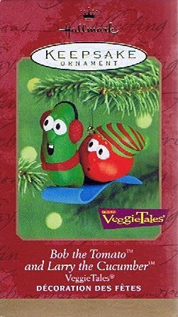 VeggieTales - Bob the Tomato and Larry the Cucumber 2000 Hallmark Keepsake Christmas -