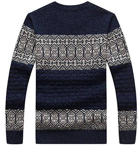 Grau Knitt Algodón Otoño De Grueso Adelina Suéteres Los Cuello Suéter Redondo Hombres Punto Ropa 7Pxn8OqwH