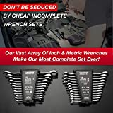 24pc IN/MM TIGHTSPOT Ratcheting Wrench Set - MASTER SET Including Inch & Metric With Quick Access Wrench Organizer - Our standard in combination wrench sets from gear to tip