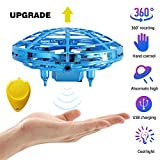 UFO Flying Ball Toys Hand-Controlled Auto-Avoid RC Mini Drone Interactive Infrared Induction Helicopter Flyer Avoidance Obstacles with 360°Rotating and LED Light Indoor Outdoor Gift for Kids Boys Girl