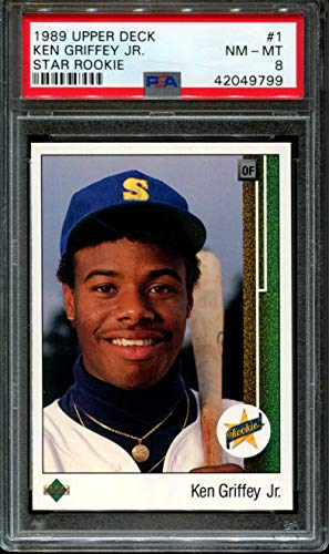 1989 Upper Deck #1 Ken Griffey Jr. Star Rookie RC PSA 8 Graded Baseball ()