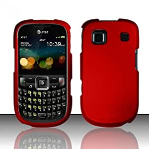For ZTE Z431 (AT&T) Rubberized Cover - Red