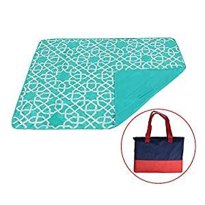 Outdoor Blanket Mat Baby Crawling Mat Waterproof and Sandproof Large Picnic Blanket by YALUYA (Sapphire, 60x80in)