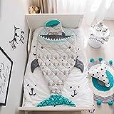 YaYi Sleeping Bag Kids Toddler Nursery 100% Cotton Quilted Slumber Bag Nap Mat Blanket Soft Warm Girl Boy Sleep Sack for Travel Sleepovers (Fish #3)