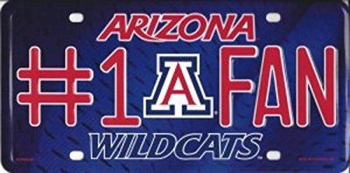 (NCAA Arizona Wildcats #1 Fan Metal License Plate Tag)