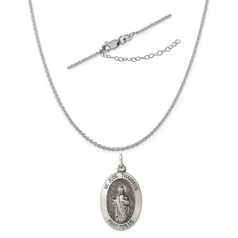 Sterling Silver Antiqued BELIEVE wLobster Clasp Charm New Pendant