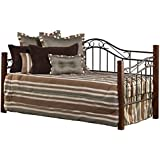 Hillsdale 1159DBLHTR Daybed With Trundle, Twin, Cherry/Black
