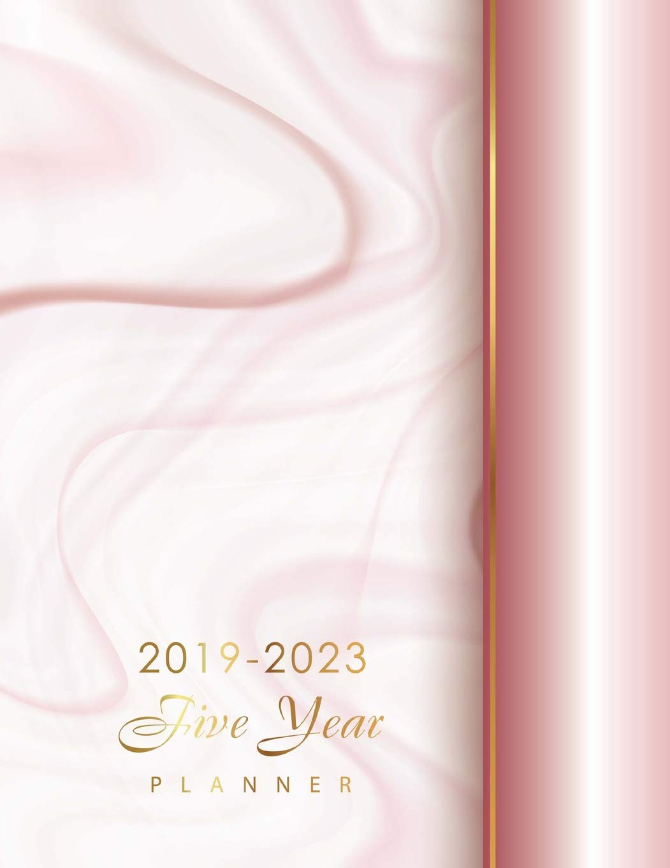 2019-2023 Five Year Planner: Elegant Marble Pink Design ...