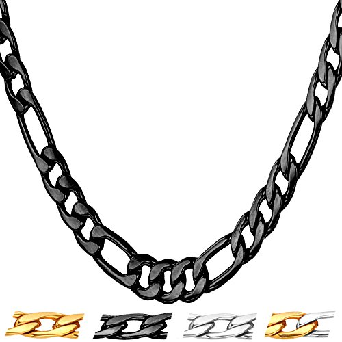 U7 Jewelry Necklace Stainless 5mm 12mm