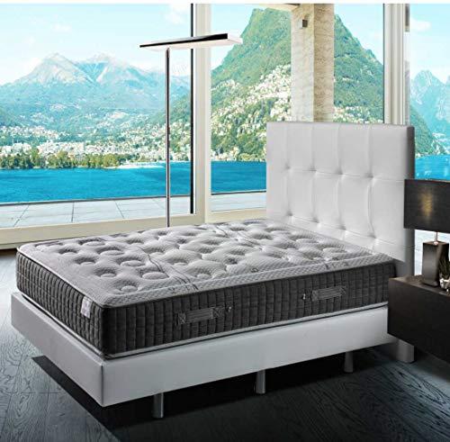 TECNOCOLCHÓN ✔️ 🛌💤 Colchón de Muelles Ensacados Tecno Spring Visco 90 x 190 cm. y 24 cm. de Altura, Viscoelástico y Reversible 🛌💤