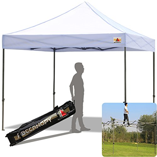 King Canopy Tent (ABCCANOPY 10' x 10' White Instant Shelter Ez Pop-Up Canopy Tent with Wheeled Carry Bag (30+ Colors))