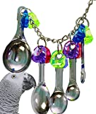 Bonka Bird Toys 1969 Spoon Delight Bird Toy Parrot cage Toys Cages African Grey Amazon Conure. Quality Product Hand Made in The USA.