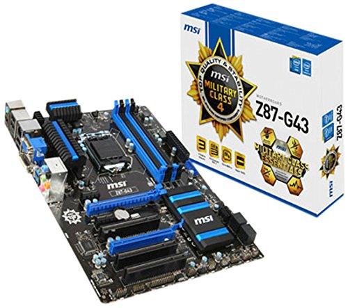MSI ATX DDR3 2600 LGA 1150 Motherboard, Z87-G43