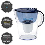 water filter pitcher fluoride Epic Pure Water Filter Pitcher   Navy Blue   3.5L   100% BPA-Free   Removes Fluoride, Lead, Chromium 6, PFOS PFOA, Heavy Metals, Microorganisms, Pesticides, Chemicals, Industrial Pollutants & More