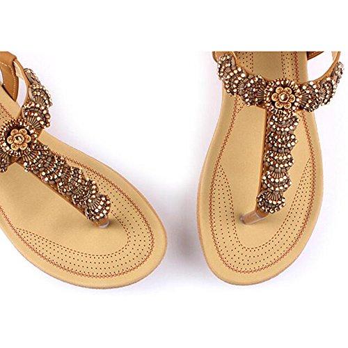 Couleurs Femme Talon Option Chaussures Xiaolin taille Étudiant En Été Clip Disponibles Plat Chaussures Plage Sandales De Orteil deux 01 Féminin UEq0wXn06