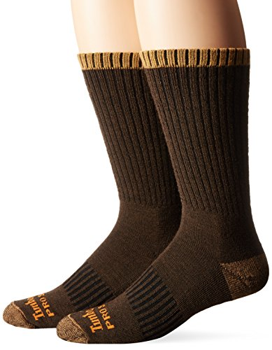 Timberland Men's Pro Crew, Brown, Sock Size:10-13/Shoe Size: 6-12/9-12